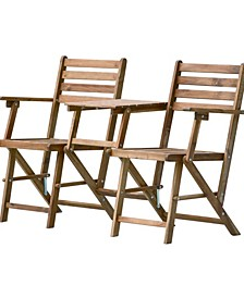 Folding Attached Chairs and Table