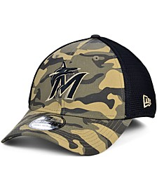 Men's Miami Marlins Camo Neo 39THIRTY Cap