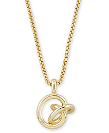 "Love Knot Pendant Necklace, 28"" + 2"" extender"