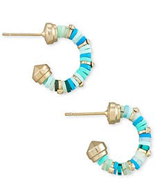 Extra-Small Disc-Bead Huggie Hoop Earrings, 0.4""