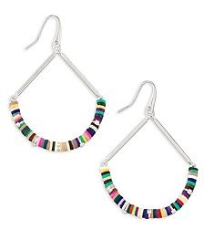 Disc-Bead Fan Drop Earrings