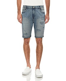 Men's Distressed Roll Cuff Denim Short