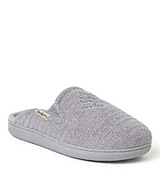 Women's Erin Chenille Extended Tab Emblem Scuff Slippers