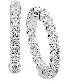 Swarovski Zirconia Small In & Out Hoop Earrings in Sterling Silver