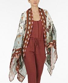 Plus Size Mix Print Kimono