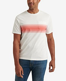 Men's Sunset Chest Stripe Pocket Crew Neck T-shirt