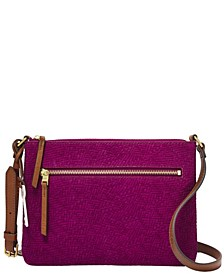 Women's Fiona East West Embossed Leather Crossbody