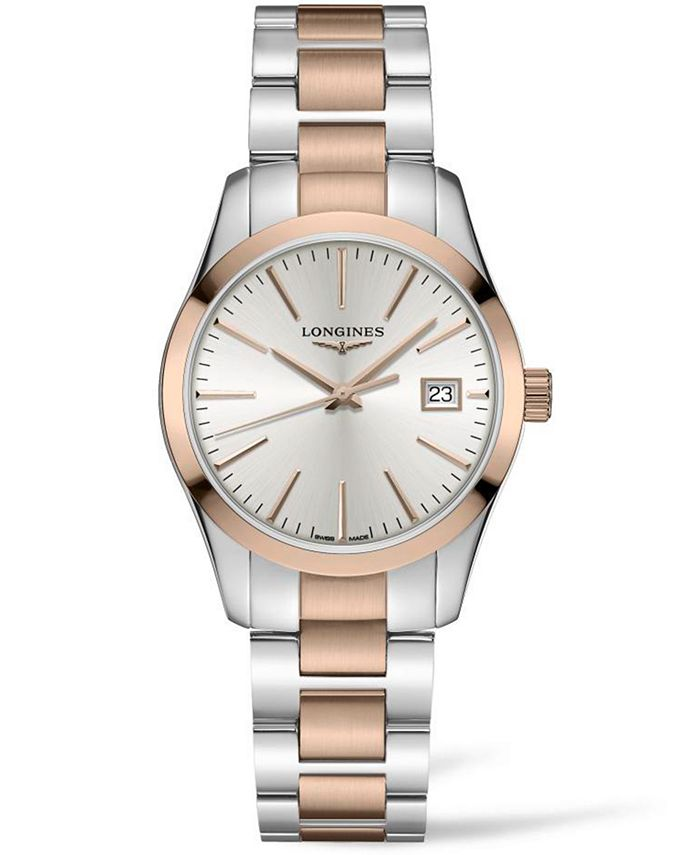 Longines - Women's Swiss Conquest Classic Two-Tone PVD Stainless Steel Bracelet Watch 34mm