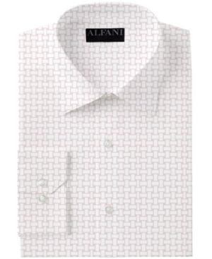 AlfaTech by Alfani Men's Slim-Fit Performance Stretch Basket Print Dress Shirt, Created for Macy's