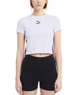 Puma WOMEN'S CLASSICS FITTED CROPPED TOP