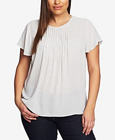 Women's Plus Short Sleeve Refined Pinot Pleated Top