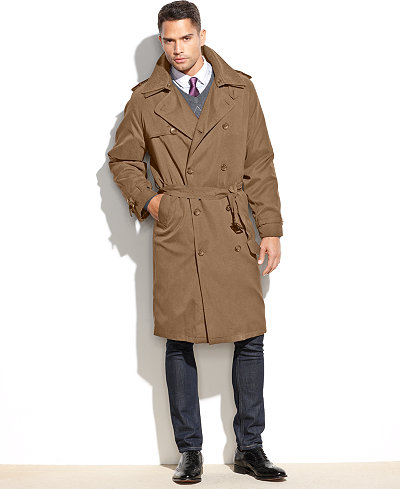 London Fog Iconic Belted Trench Raincoat - Coats & Jackets - Men ...