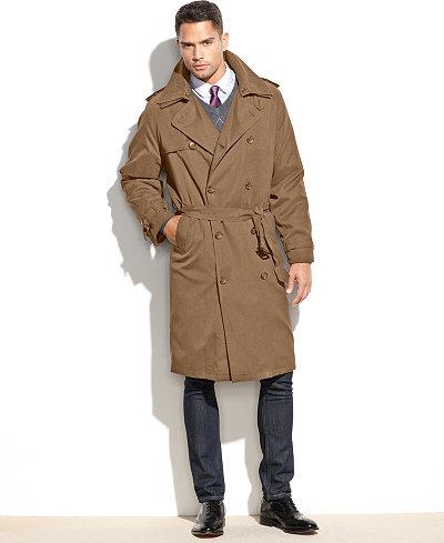 London Fog Iconic Belted Trench Raincoat Coats Amp Jackets