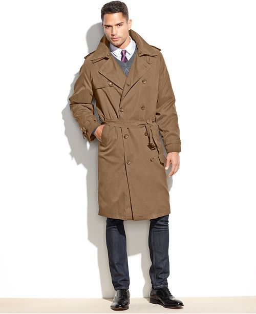 official photos ff043 4df29 ... London Fog Iconic Belted Trench Raincoat ...