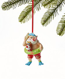 At the Beach Snorkeling Santa Ornament, Created for Macy's