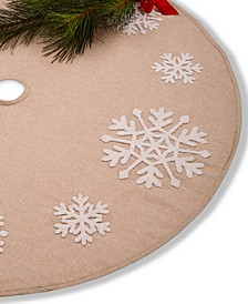 Snowflake Burlap Tree Skirt, Created for Macy's