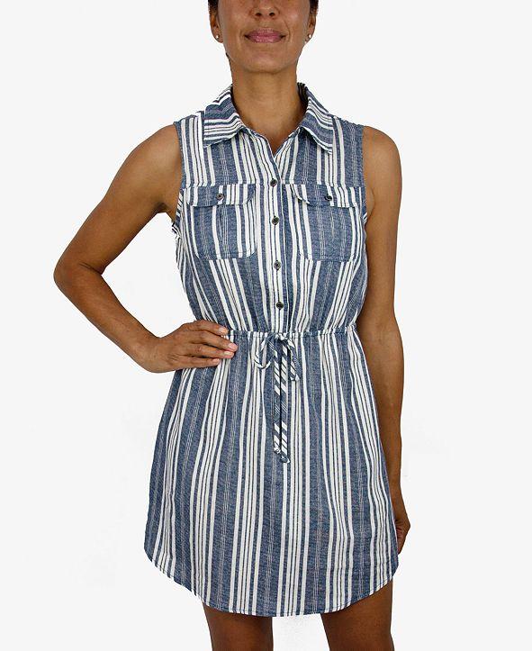 Be Bop Juniors' Striped Shirtdress
