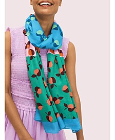 Colorblock Apples Oblong Scarf