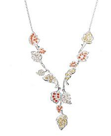 "Disney's Crystal Frozen 2 Gale Wind Spirit Lariat Necklace in Sterling Silver, 18"" + 2"" extender"