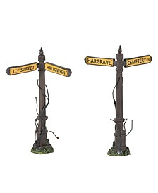 Creepy Street Signs Figurines