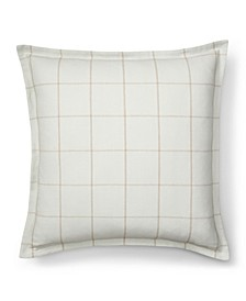 Julianne Windowpane Euro Sham