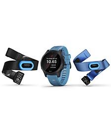 Unisex Forerunner 945 Blue Silicone Strap Touchscreen Smart Watch 47mm Gift Set