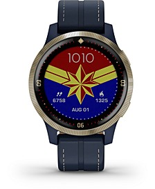 Unisex vivoactive 4 Captain Marvel Legacy Hero Blue Silicone Strap Touchscreen Smart Watch 32mm