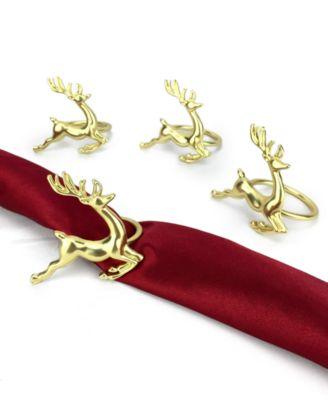 Deer Napkin Rings, Set of 4, Created for Macy's