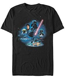 Men's Star Wars Empire Strikes Back Darth Vader Short Sleeve T-Shirt
