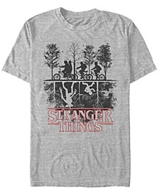 Men's Stranger Things The Upside Down Silhouette Short Sleeve T-Shirt
