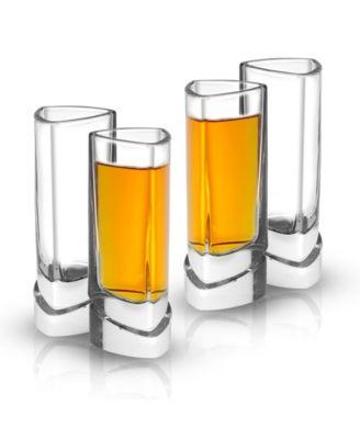 Aqua Vitae Off Base Triangle Shot Glasses, Set of 4