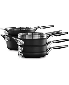 Premier Space-Saving 8-Pc. Hard-Anodized Nonstick Cookware Set