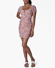 Juniors' Emma Ruched Sheath Dress