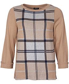 Barbour Forth Plaid Crewneck Cotton Sweater