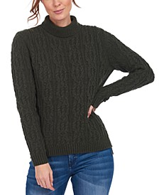 Burne Cable-Knit Turtleneck Sweater