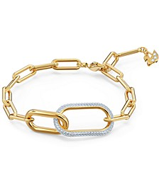 Gold-Tone Crystal Link Bracelet