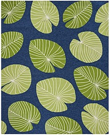 Lily Pad MSR2212A Azure 4' x 6' Area Rug