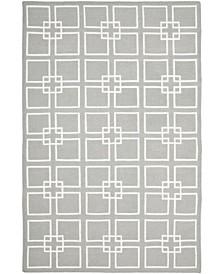 Square Dance MSR1151C Gray 6' x 9' Area Rug