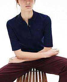 Cotton Slim Half-Sleeve Polo
