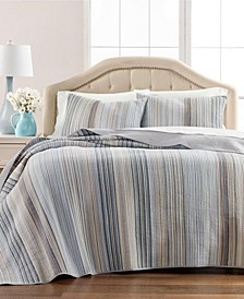 Charleston Yarn Dye Stripe Twin/Twin XL Quilt, Created for Macy's