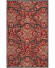 French Painted Avignon MSR4551A Burgundy 5' x 8' Area Rug