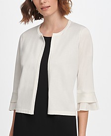 3/4 Pleat Sleeve Cardigan