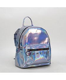 Metallic Polyurethane Backpack