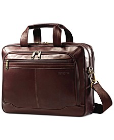 Leather Toploader Laptop Briefcase
