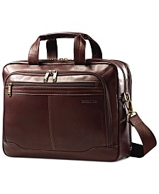 Samsonite Leather Toploader Laptop Briefcase