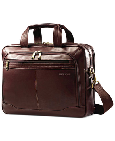Samsonite Leather Toploader Laptop Briefcase - Backpacks - Luggage ...