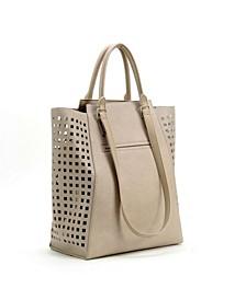 Calico Stencil Reversible Tote Handbag Set
