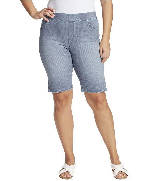 Gloria Vanderbilt Women's Plus Size Avery Pull On Bermuda Short
