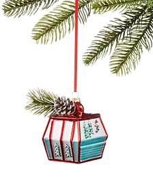 Chalet You Stay, Glass Ski Gondola Ornament, Created for Macy's