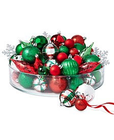 Christmas Cheer Shatterproof Red, Green & Silver Ornaments, Set of 100, Created for Macy's